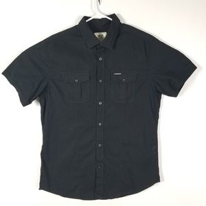 Ecko Unltd Black Button Down Shirt Sz Large